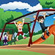 Kids Playing on a Monkey Bar at the Playground - GraphicRiver Item for Sale