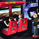 Boys playing Car Racing in an Arcade - GraphicRiver Item for Sale