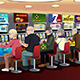 Senior People Playing Slot Machines in the Casino - GraphicRiver Item for Sale
