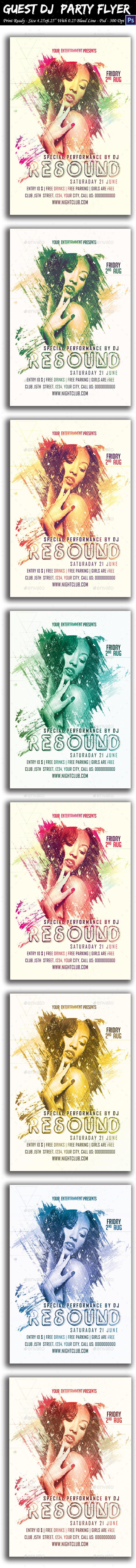 GraphicRiver Guest DJ Party Flyer 8789911