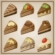 Set of Cakes.  - GraphicRiver Item for Sale
