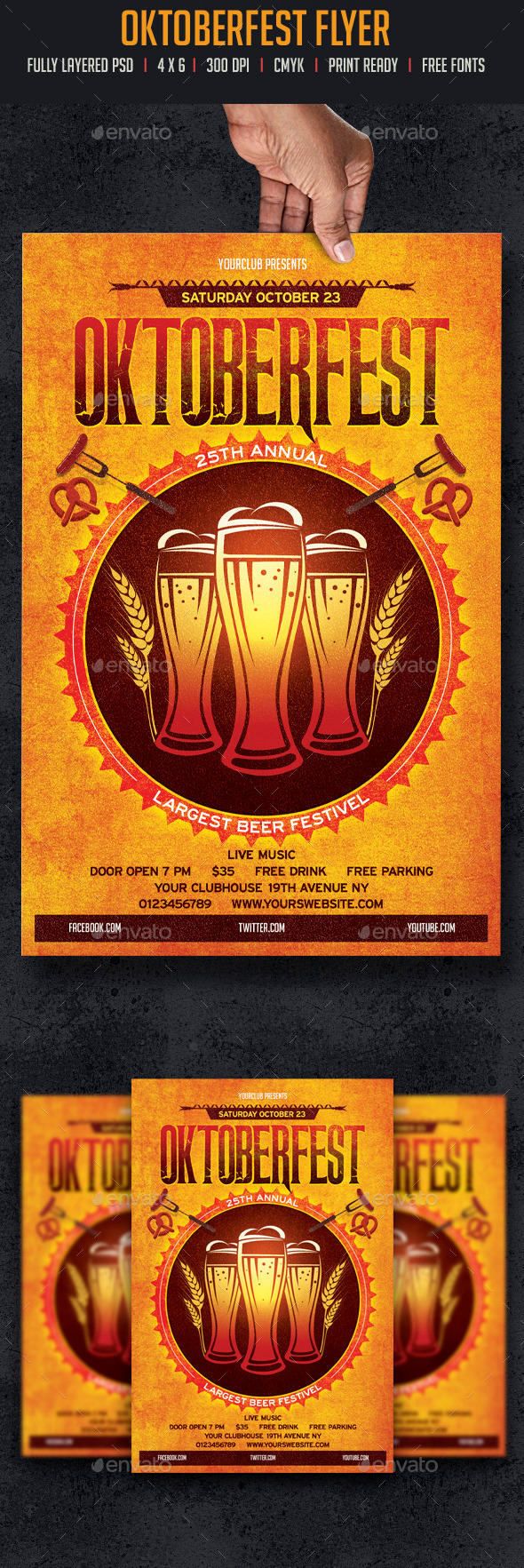 GraphicRiver Oktoberfest Flyer 8790074