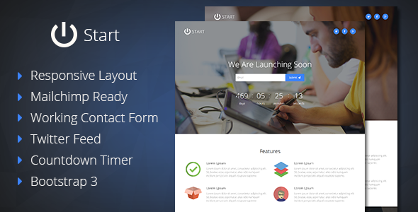 ThemeForest Start Coming Soon Responsive Template 8790162