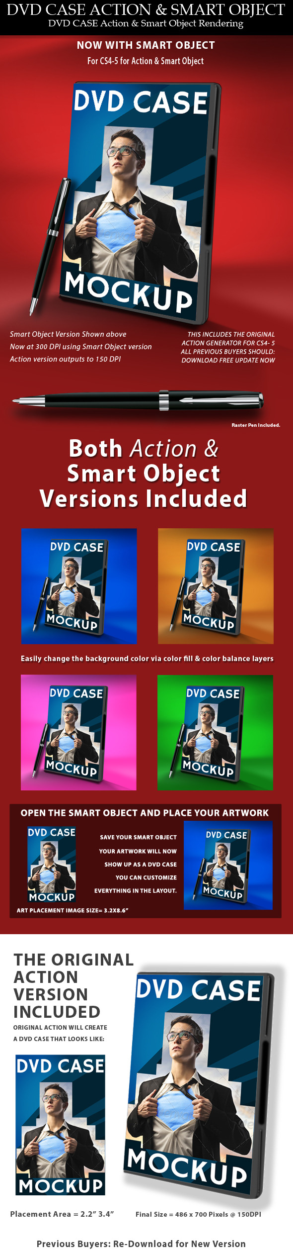 DVD Case Action & Smart Object