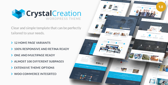 ThemeForest Crystal Responsive WordPress Theme Multipurpose 7478893