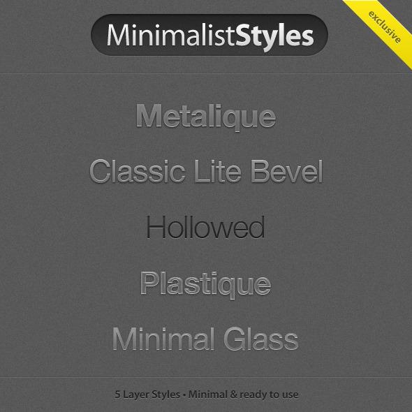 MinimalistStyles - Photoshop Add-ons