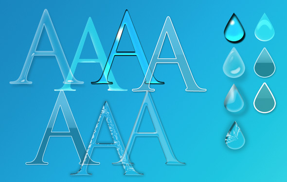 7 Glass Styles for Photoshop - Text Effects Styles