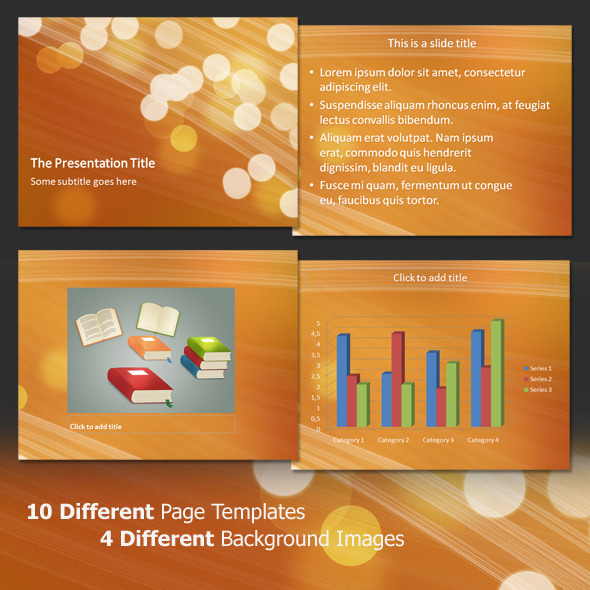 Light Bubbles - Professional PowerPoint Template - Abstract PowerPoint Templates