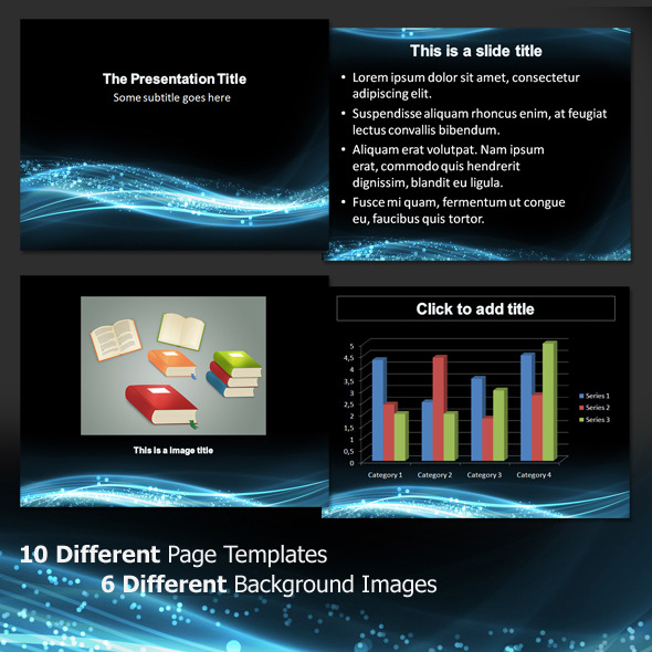 Abstract Waves3 - Professional PowerPoint Template - Abstract PowerPoint Templates