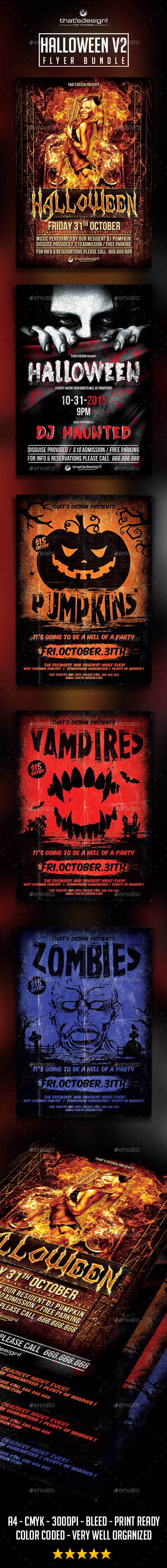 GraphicRiver Halloween Flyer Bundle V2 8790288