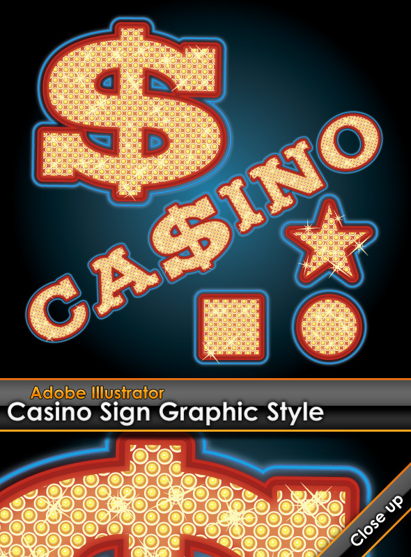 Casino Sign Illustrator Graphic Style