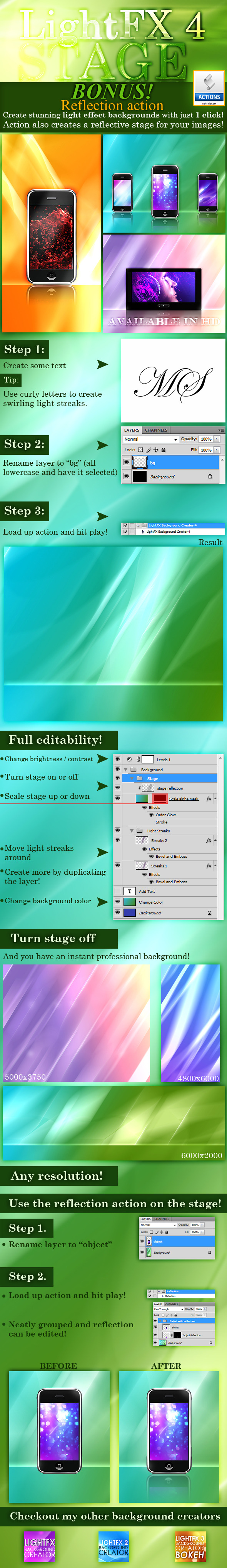 LightFX Background Creator 4 - Utilities Actions