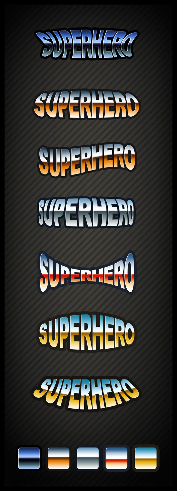 Superhero Text Effect - Text Effects Styles