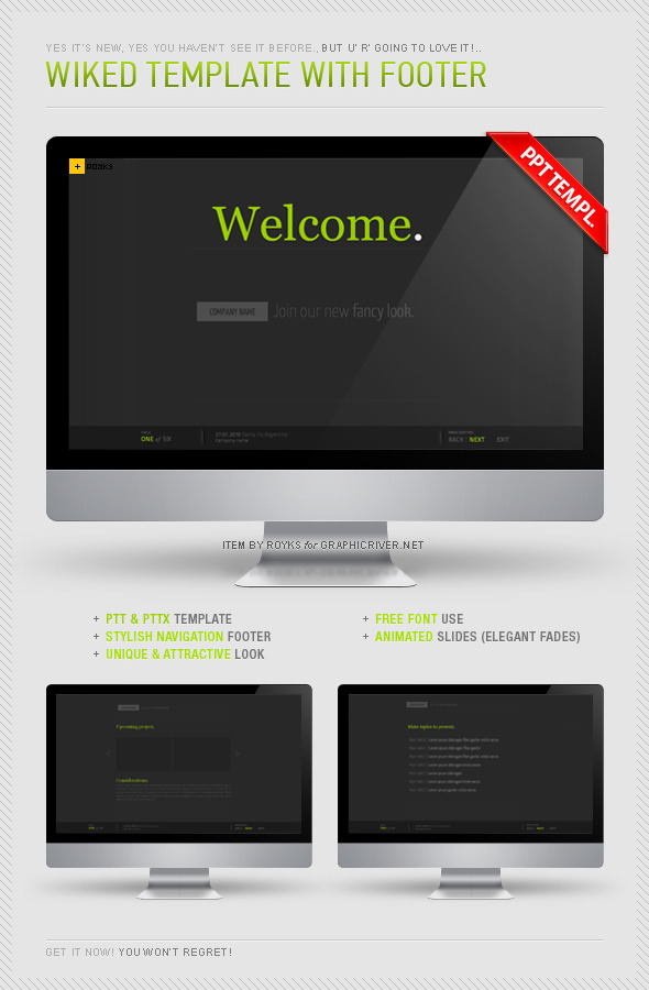 Wiked Template With Footer - Powerpoint Templates Presentation Templates