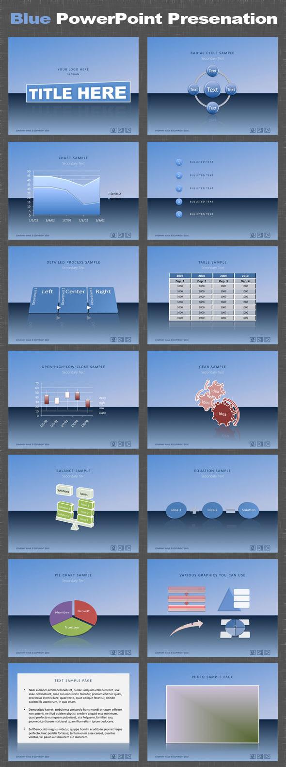 Blue PowerPoint Presentation - PowerPoint Templates Presentation Templates