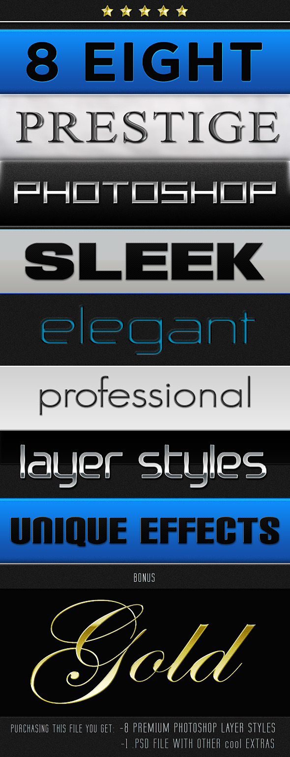 Smooth Sleek and Shiny Layer Styles - Photoshop Add-ons