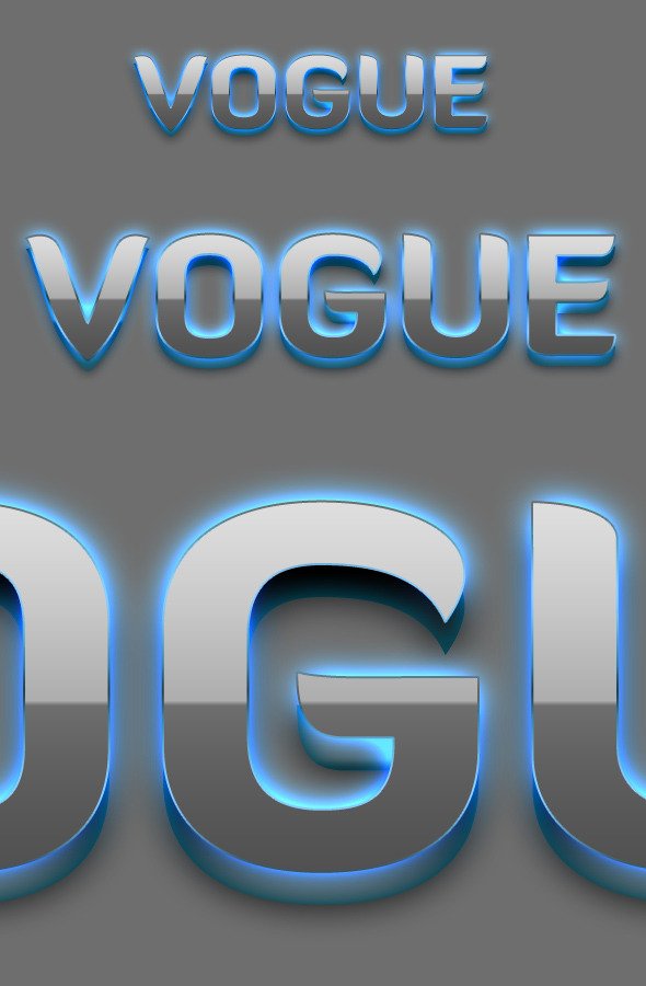 Vogue - 3D Text Styles - Text Effects Styles