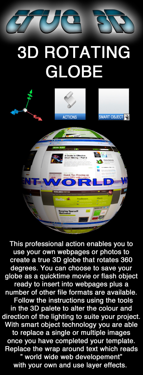 3D Rotating Globe Action