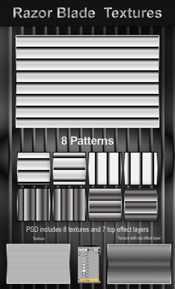 Razor Blade Textures - Textures / Fills / Patterns Photoshop