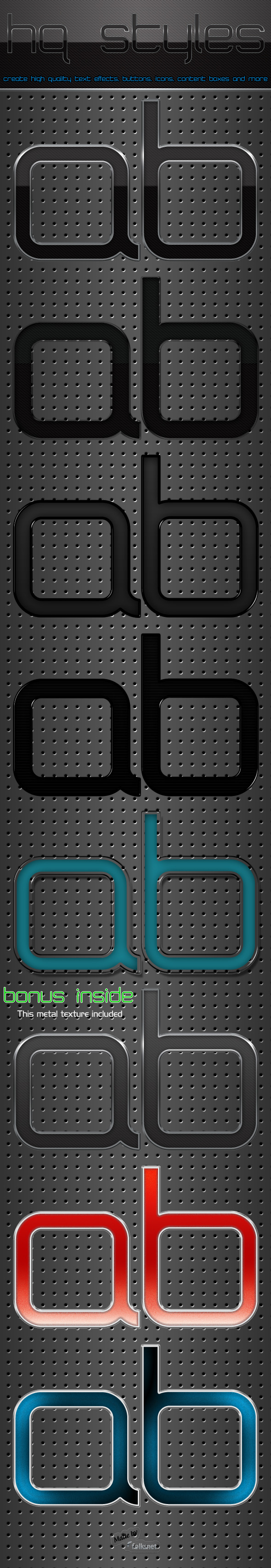 HQ Styles - Text Effects Styles