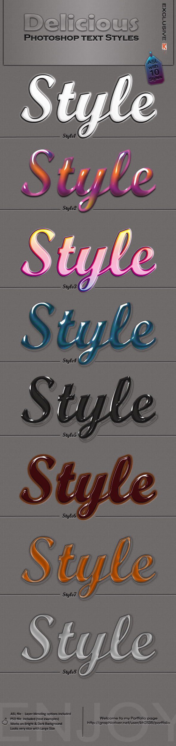 Delicious Photoshop Styles - Text Effects Styles