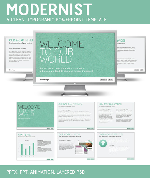 Modernist PowerPoint Template - PowerPoint Templates Presentation Templates