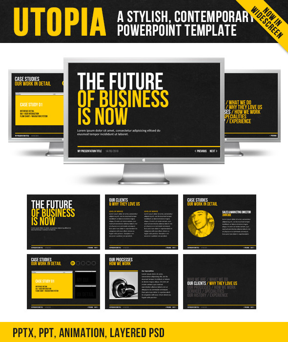 typographic presentation templates from graphicriver, Graphicriver Folio Powerpoint Presentation Template, Presentation templates