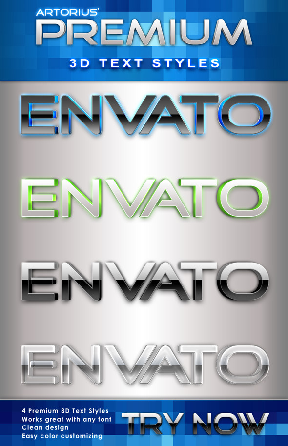 Premium 3D Text Styles - Text Effects Styles