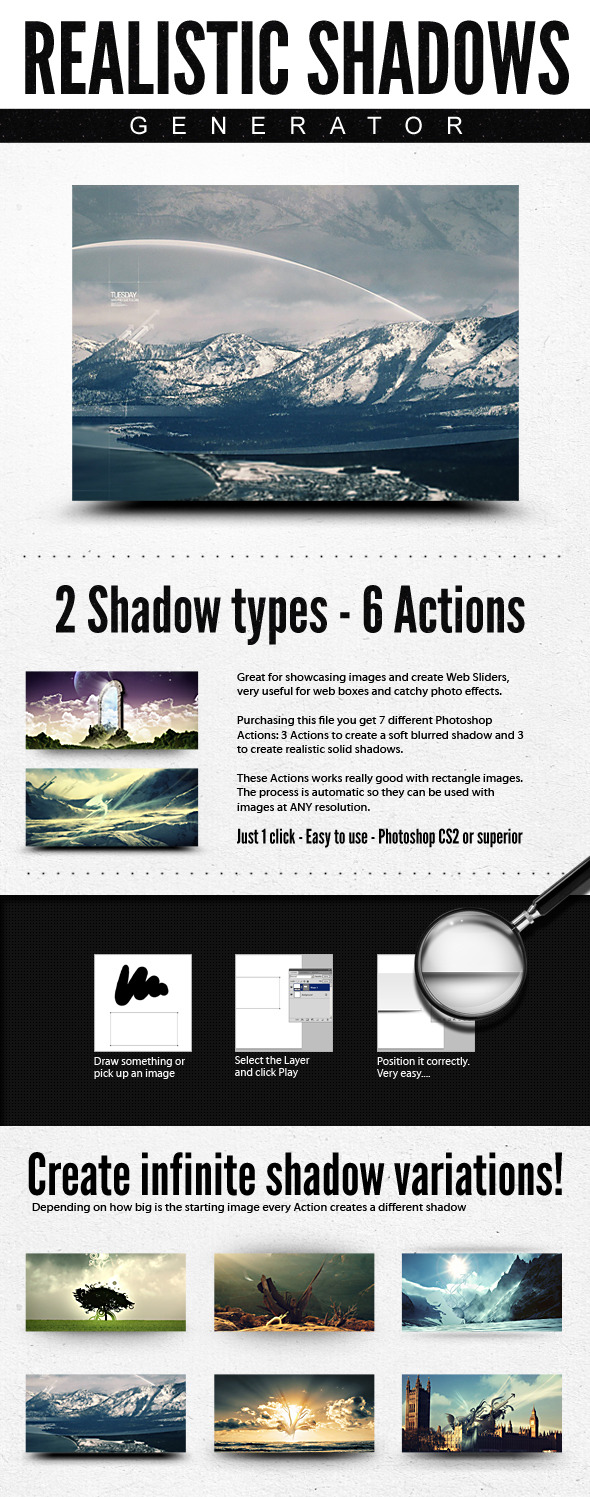 Realistic Web Shadow Generator - Shadows Action  - Utilities Actions