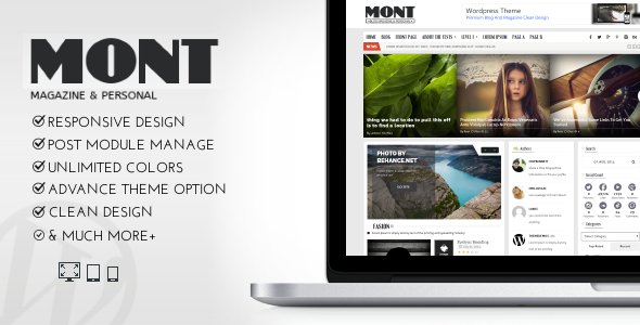 ThemeForest MONT WP Theme Magazine & Personals 7758127