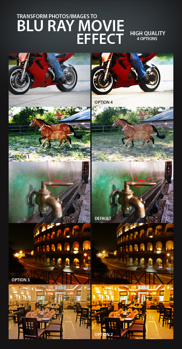 Blu Ray Movie Effect - Photo Effects Actions