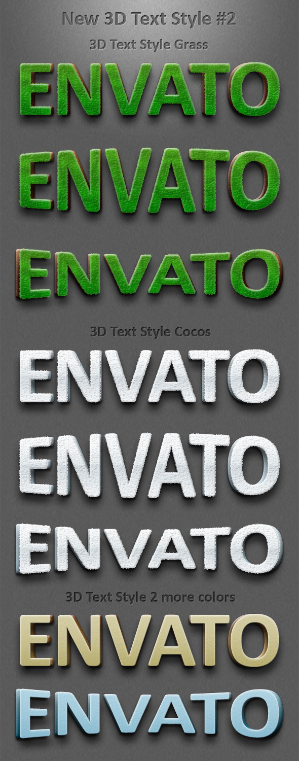 New 3D Text Styles #2 - Text Effects Styles