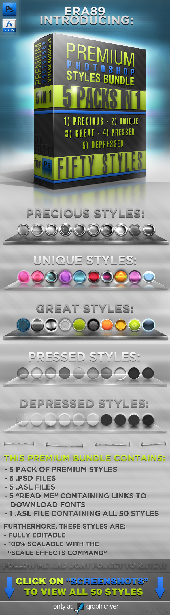 Photoshop Styles BUNDLE #1