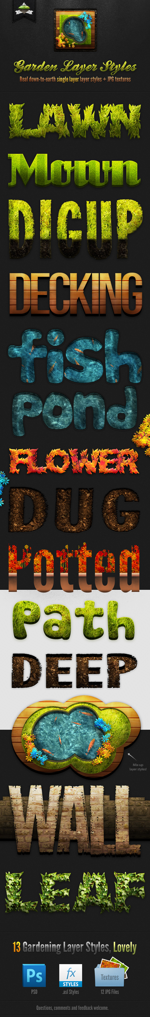 Garden Layer & Text Styles - Text Effects Styles