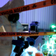 Scientist behind the caution tape. - VideoHive Item for Sale