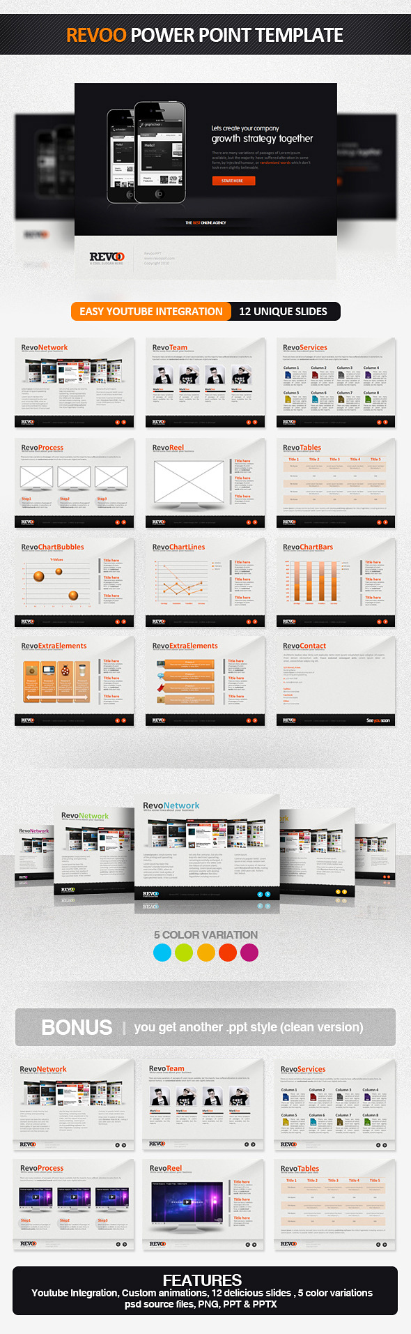 Revoo PowerPoint Presentation Template - PowerPoint Templates Presentation Templates