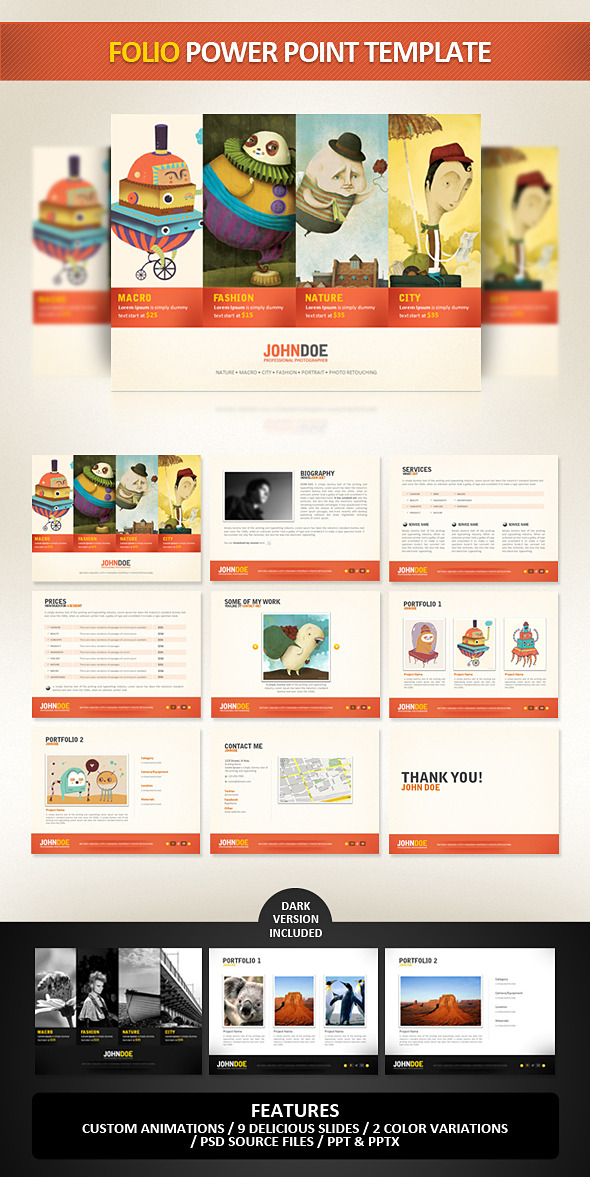Folio PowerPoint Presentation Template - Powerpoint Templates Presentation Templates