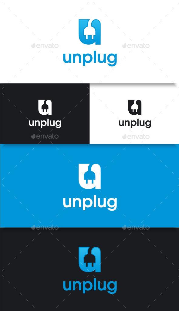 GraphicRiver Unplug Letter U Logo 8790459