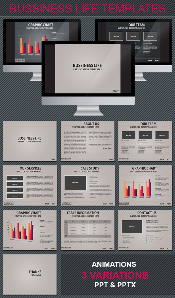 BUSSINESS LIFE POWERPOINT TEMPLATE - Powerpoint Templates Presentation Templates