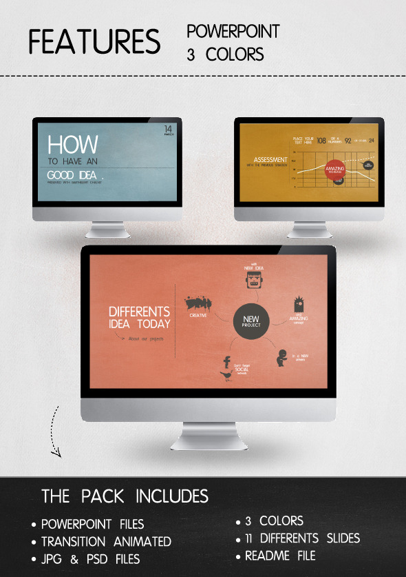 Presentation Vintage Style Powerpoint - Business PowerPoint Templates
