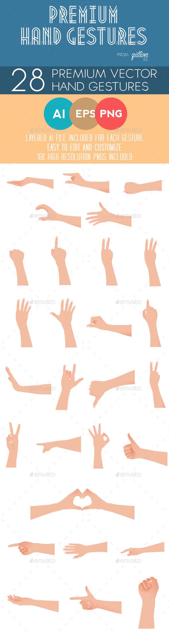 GraphicRiver Premium Hand Gestures 8784093