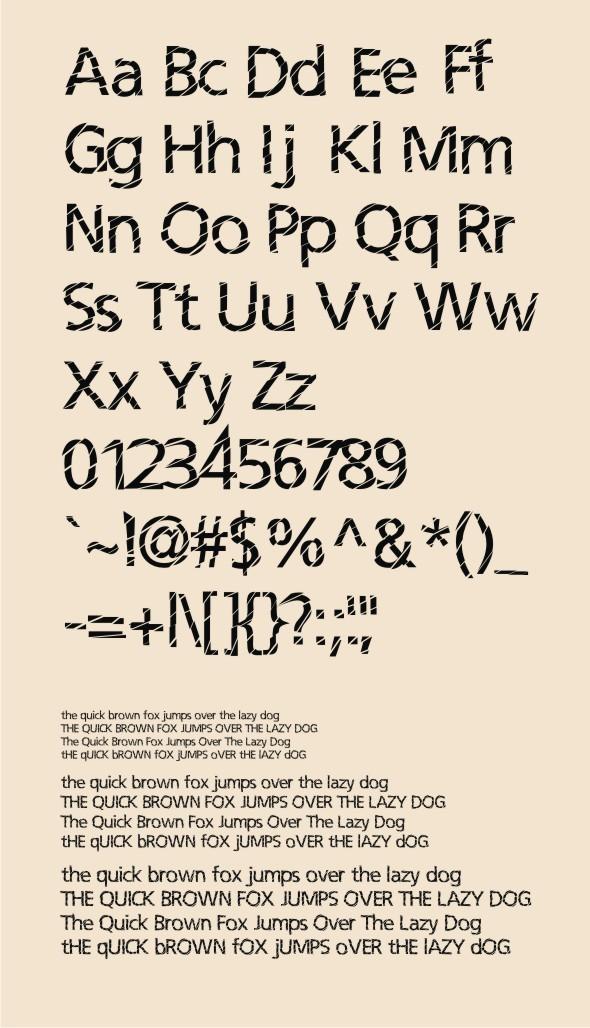 Irisan Slice Font