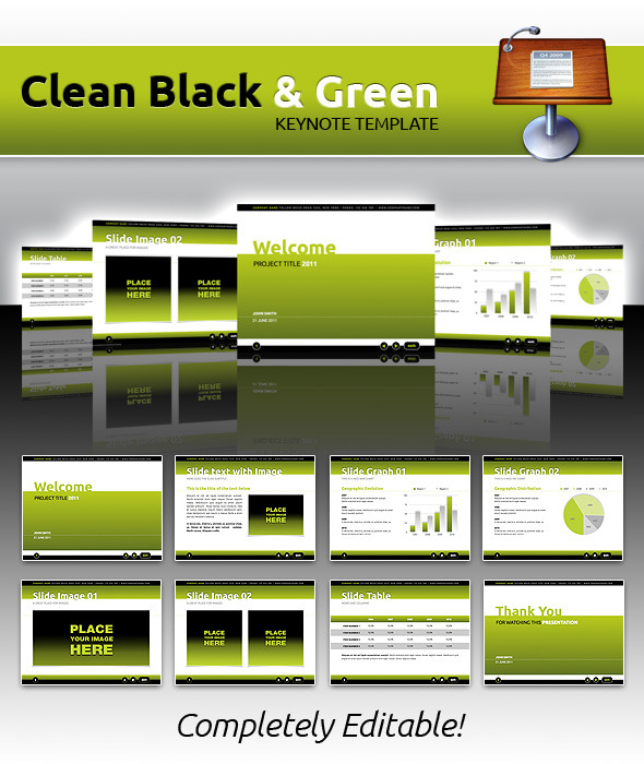 Clean Black & Green Keynote