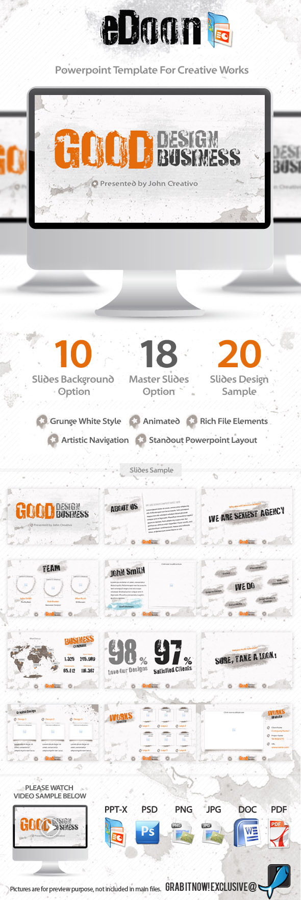 eDoon Powerpoint Template For Creative Works