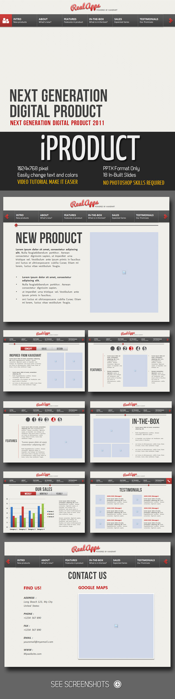 iProduct PowerPoint Presentation - Business Powerpoint Templates