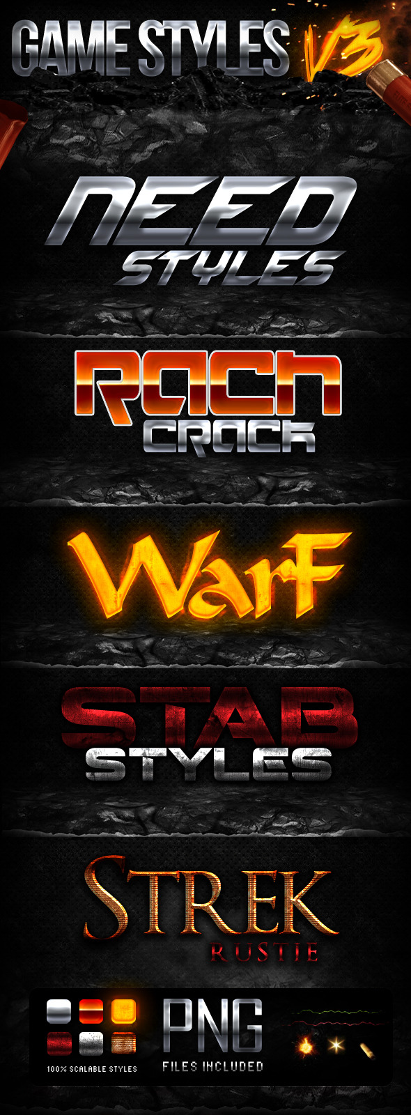 GAME STYLES V3 - Text Effects Styles