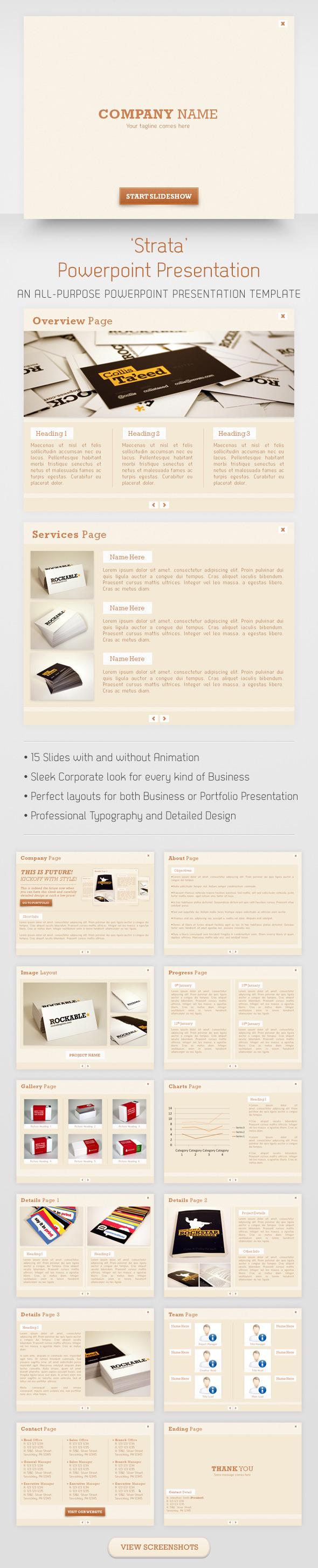 Strata Powerpoint Presentation - Powerpoint Templates Presentation Templates