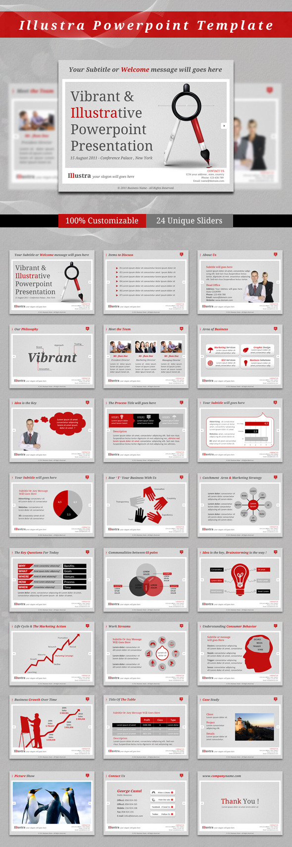 Illustra PowerPoint Template - Business Powerpoint Templates