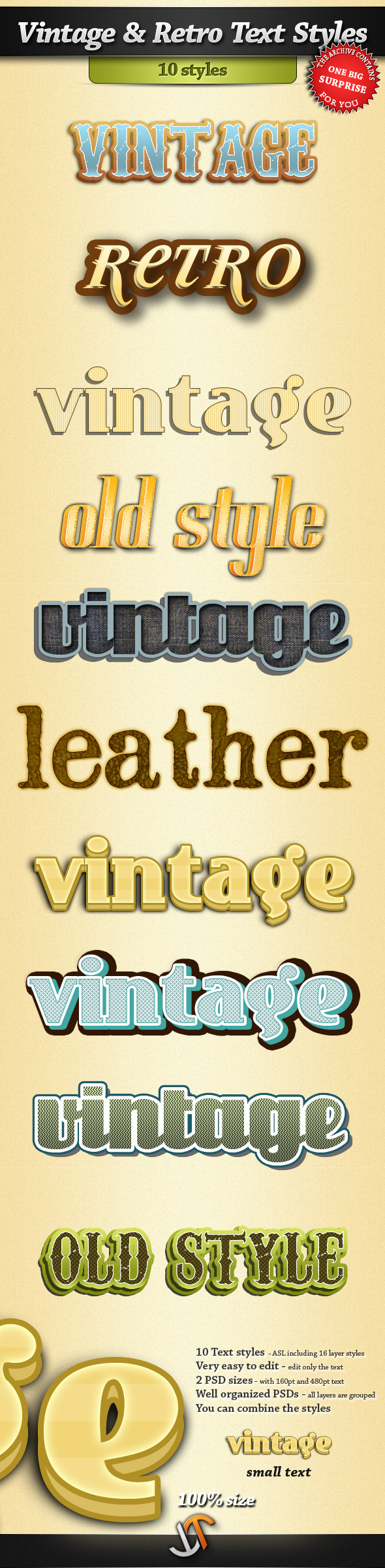 Vintage and Retro Text Styles