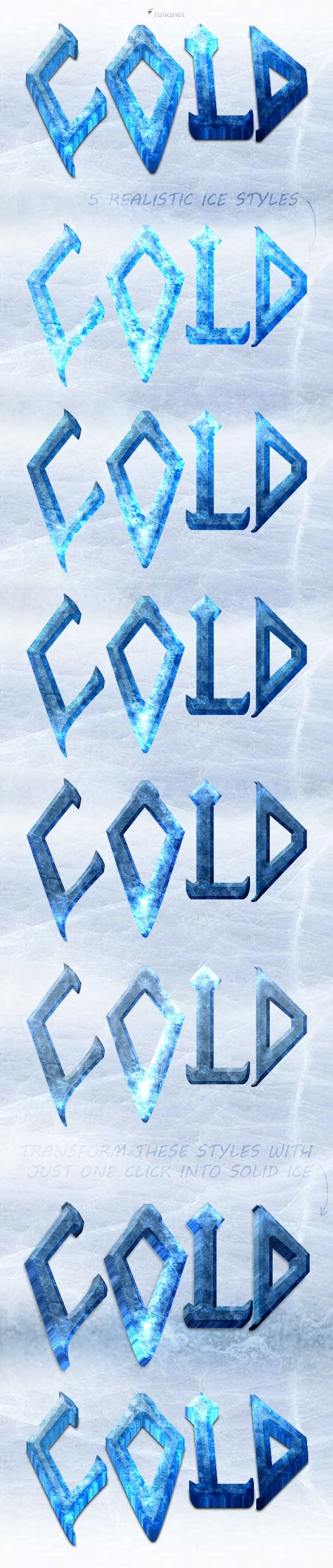 3D Ice Styles - Text Effects Styles